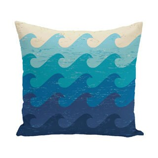 Deep Sea Geometric Print 20-inch Outdoor Pillow