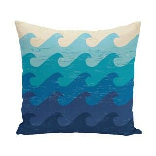 Deep Sea Geometric Print 20-inch Outdoor Pillow