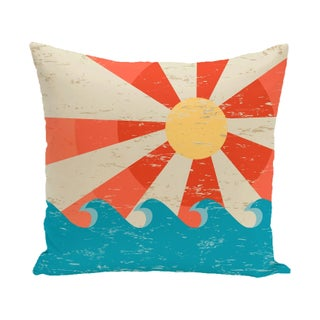 Sunbeams Geometric Print 20-inch Outdoor Pillow (2 options available)