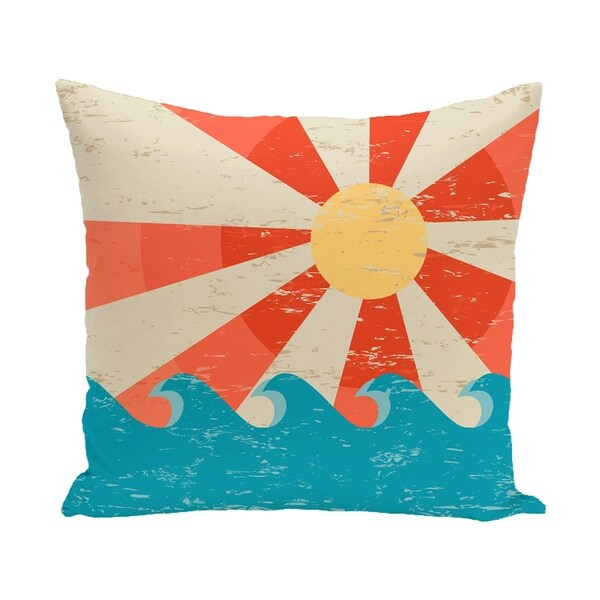 Sunbeams Geometric Print 20 Inch Outdoor Pillow Free Shipping
