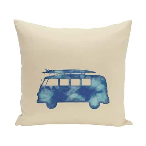 Beach Drive 20-inch Geometric Print Outdoor Pillow