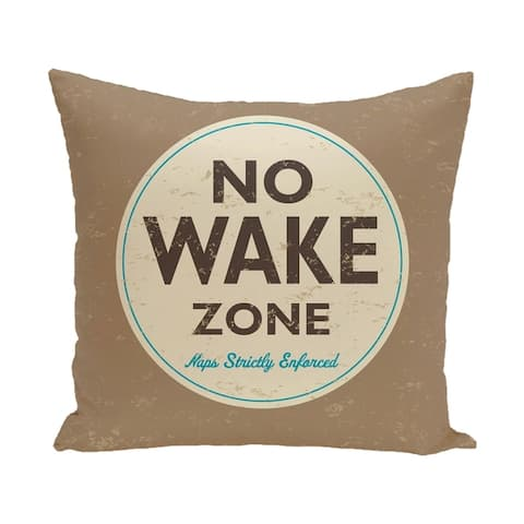 Nap Zone 20-inch Word Print Outdoor Pillow