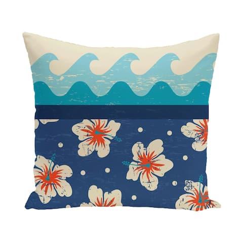 Hang Ten 18-inch Floral Print Outdoor Pillow