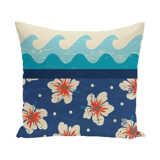 Hang Ten 18-inch Floral Print Outdoor Pillow