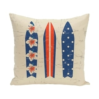 Triple Surf 18-inch Geometric Print Outdoor Pillow