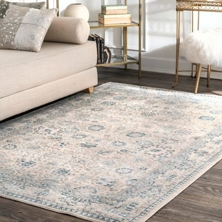 nuLOOM Traditional Persian Florette Beige Rug (5'3 x 7'7)