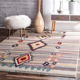 nuLOOM Moroccan Striped Diamonds Multi Rug (5'3 x 7'7)