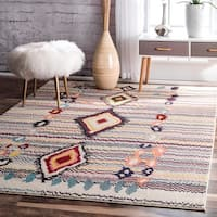 nuLOOM Moroccan Striped Diamonds Multi Rug (5'3 x 7'7) - 5'3 x 7'7
