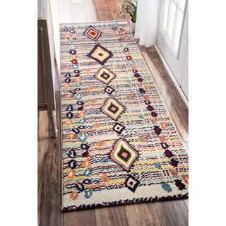 nuLOOM Moroccan Striped Diamonds Multi Runner Rug (2'6 x 8')