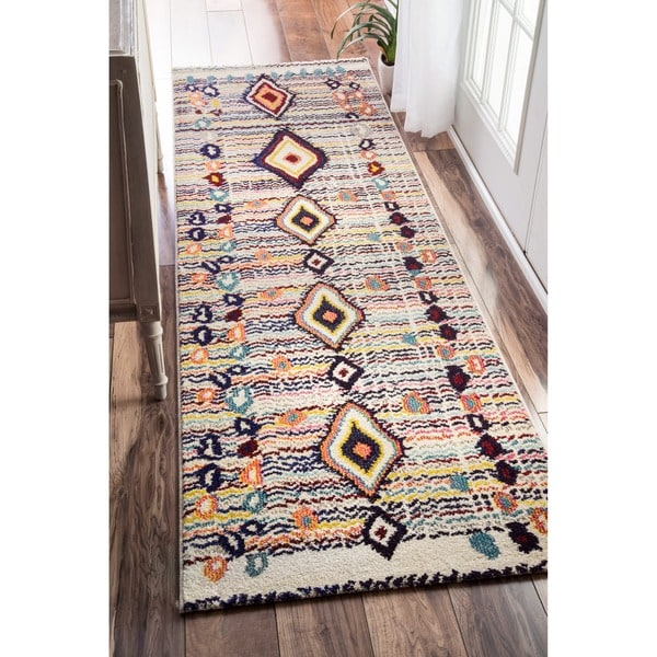 Shop Nuloom Moroccan Striped Diamonds Multi Runner Rug 2