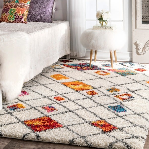 Shop NuLOOM Sot And Plush Moroccan Color Burst Lattice
