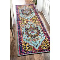 nuLOOM Traditional Vibrant Vines Ornamental Runner Rug - 2'6 x 8'