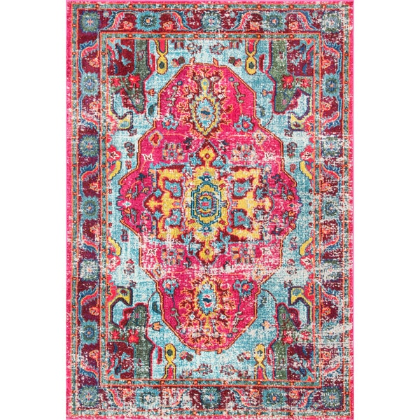 Nuloom Distressed Abstract Vintage Oriental Multi Rug 5 3 X 7 Free Shipping Today Com 17854729