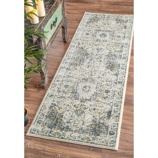 nuLOOM Traditional Persian Vintage Grey Runner Rug (2'8 x 8')