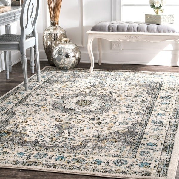 Nuloom Traditional Persian Vintage Grey Rug 9 X 12