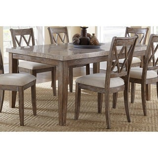 The Gray Barn Abernathy Marble Top 70-inch Dining Table - Grey