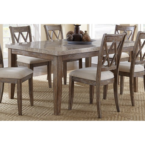 Greyson Living Fulham Marble Top 70-Inch Dining Table - Grey