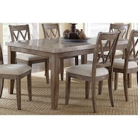 Shop Furniture of America Joreth Genuine Marble Top Dining Table ...