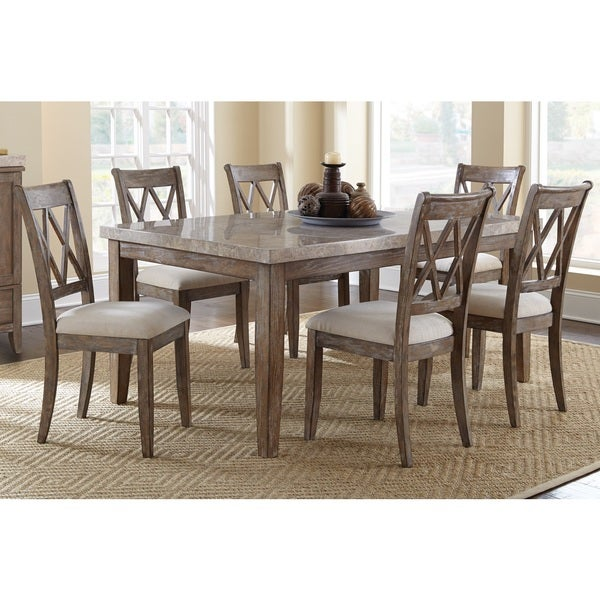 Fulham marble top dining set by greyson living free for Greyson dining table