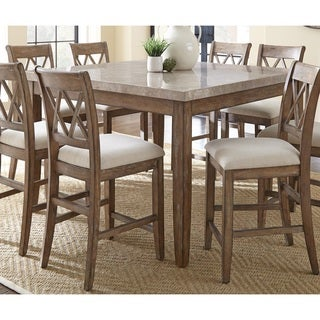 The Gray Barn Abernathy Marble Top Counter Height Dining Table