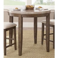 The Gray Barn Abernathy Marble Top Counter Height Bar Table