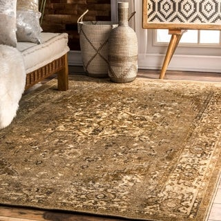 nuLoom Overdyed Fancy Natural Area Rug (4' 4 x 6')