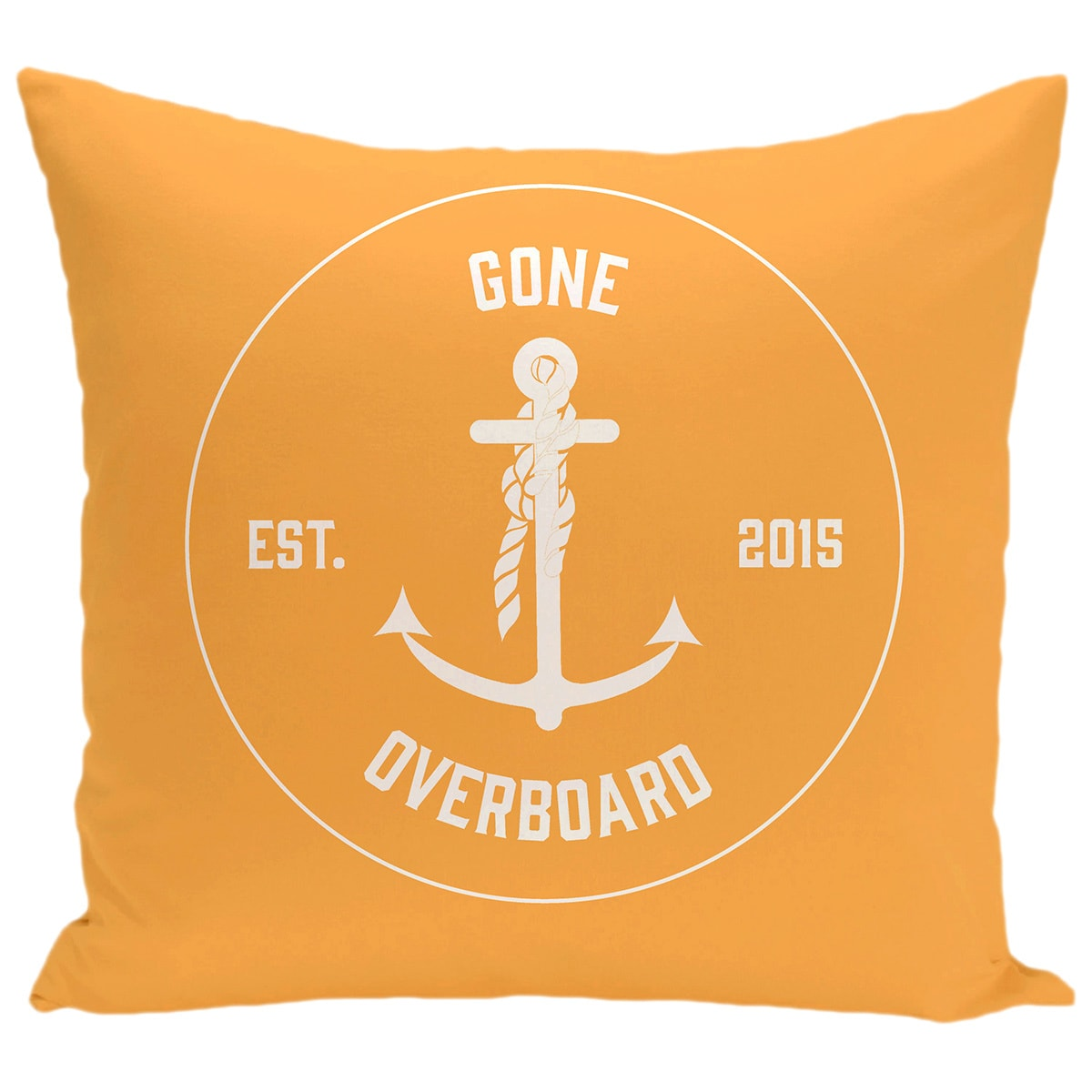Gone Overboard Word Print 26-inch Pillow (Green)