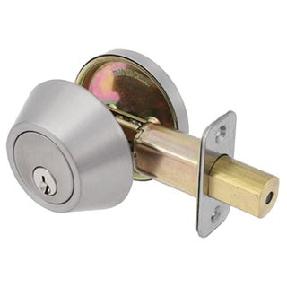 Dclose Harmony Series Polished Chrome Single Cylinder Entrance Deadbolt