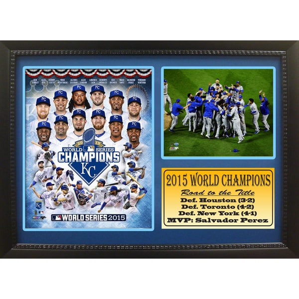12x18 Photo Stat Frame - Kansas City Royals 2015 World Champions