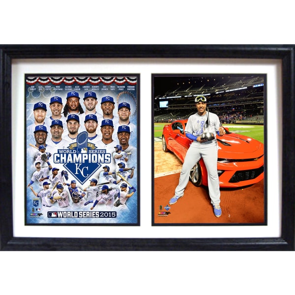 12 Inch x18 Inch Double Frame MLB Kansas City Royals 2015 World Champions