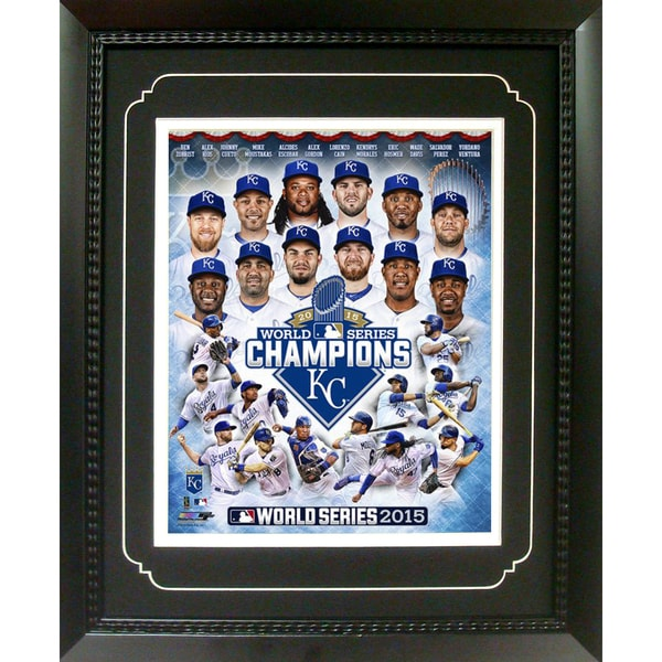 11 Inch x 14 Inch Deluxe Frame MLB Kansas City Royals 2015 World Champions