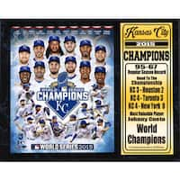12 Inch x 15 Inch Stat Plaque MLB Kansas City Royals 2015 World Champions