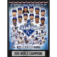 9 Inch x12 Inch Plaque MLB Kansas City Royals 2015 World Champions