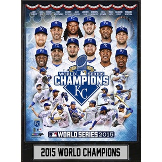 9 Inch x12 Inch Plaque MLB Kansas City Royals 2015 World Champions