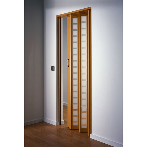 Homestyle Metro Beech with Frosted Squares Folding Door