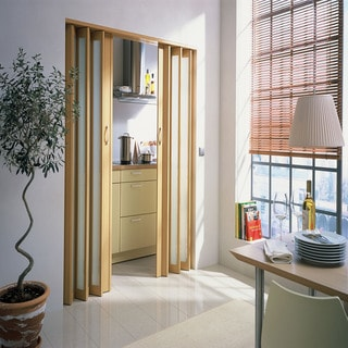 Homestyle Metro Beech with Turquoise Insert Folding Door