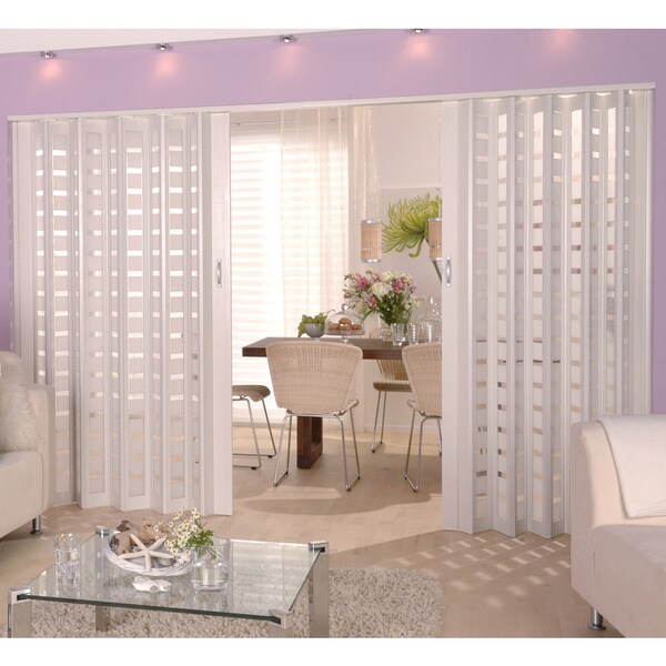 Homestyle metro white with frosted squares insert folding for Homestyle kitchen doors