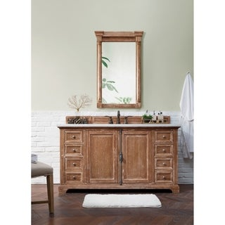 "Providence 60"" Single Vanity Cabinet, Driftwood"