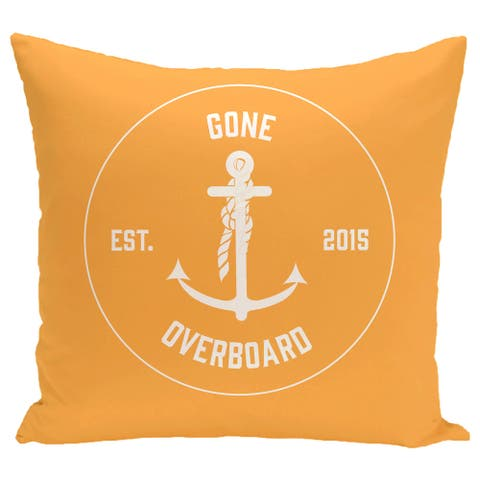 Gone Overboard 20-inch Word Print Pillow