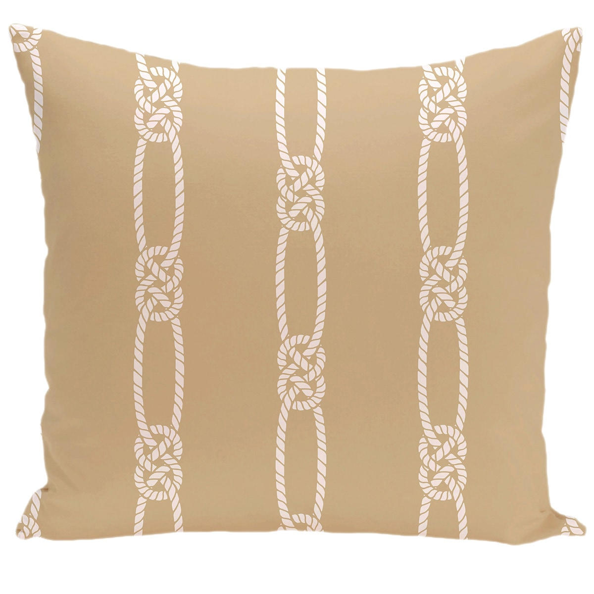 Tom Foolery Stripe Print 18-inch Pillow (Beige)