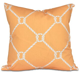Ahoy! 26-inch Geometric Print Pillow
