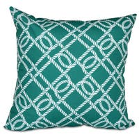 Know the Ropes Geometric Print 20-inch Pillow