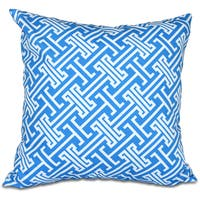 Leeward Key 18-inch Geometric Print Pillow