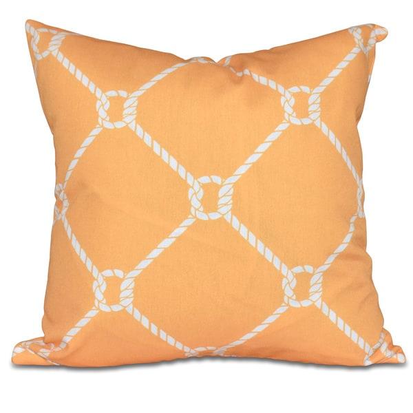 Ahoy! Geometric Print 18-inch Pillow