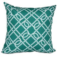 Know the Ropes Geometric Print 18-inch Pillow