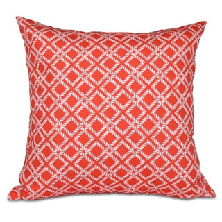 Rope Rigging Geometric Print 20-inch Pillow