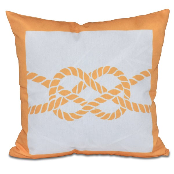 Nautical Knot Geometric Print 26-inch Pillow