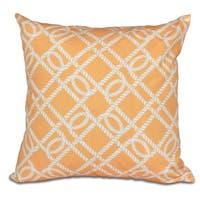 Know the Ropes 16-inch Geometric Print Pillow