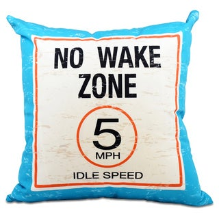 No Wake 26-inch Word Print Pillow