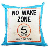No Wake 26-inch Word Print Pillow